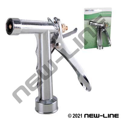 Chrome Plated Full-Size Garden Hose Thread Nozzle