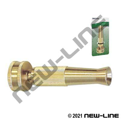 Heavy Duty Full-Size Brass Twist Garden Hose Thread Nozzle