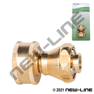 Brass Garden Hose Thread Sweeper Nozzle With Shut-Off