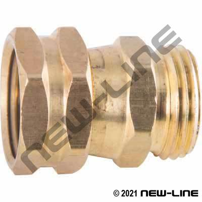 Brass Female GHT x Male GHT Live Swivel