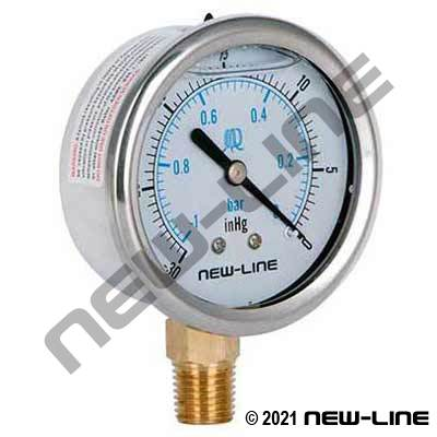 Liquid Filled Vacuum Gauge Lower Mount