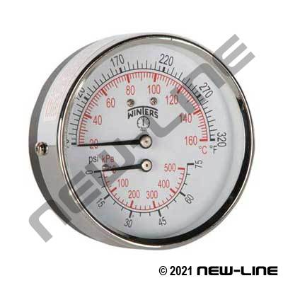 Tridicator Temperature & Pressure Gauge