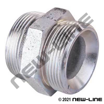 Double Spud for O-Ring Seal Ground Joint