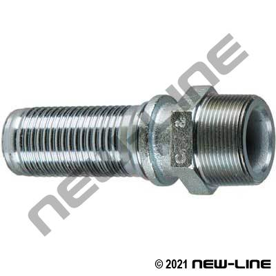 Interlocking Male NPT Crimp Stem for Air