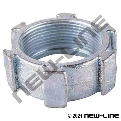 Low Profile Wing Nut for O-Ring Seal Ground Joint
