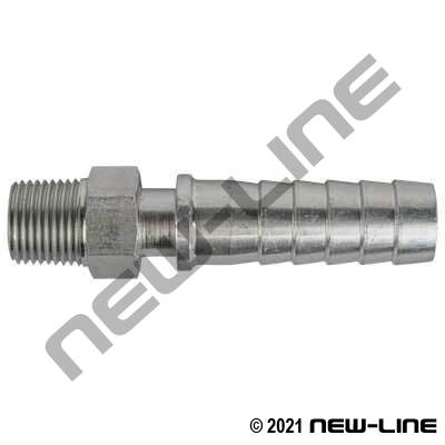 Hose X MNPT Plated Steel Hex Hose Nipple