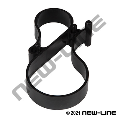 Hose / Cable Horizontal Double Hanger Clip - Railing Mount
