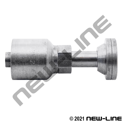 Stainless Steel Crimp x C62 Flange Straight