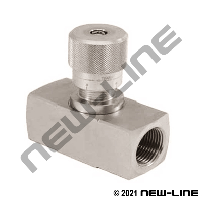 High Pressure Stainless Steel NPT In-Line Needle Valve