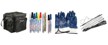 Markers, Tie Wraps, Gloves, and Misc