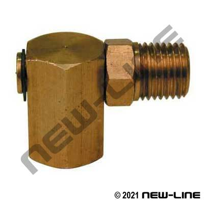 NPT Brass 90° Light Duty Swivel Joint