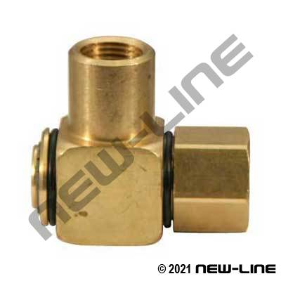 Brass Female NPT x Female NPT 90° Swivel