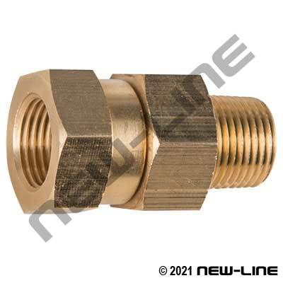 Brass Female NPT x Male NPT In-Line Swivel