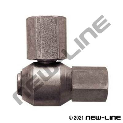 Female NPT Stem Live X Female NPT 90° Dual Plane Swivel