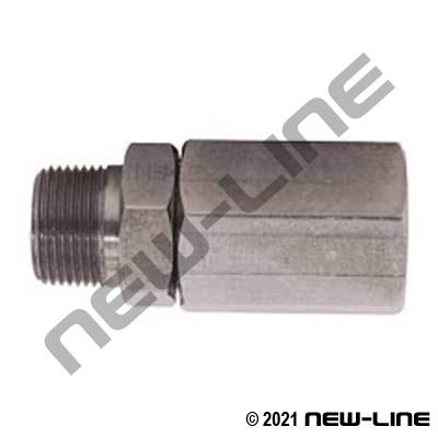 Male NPT Stem x Female NPT Straight Live Swivel