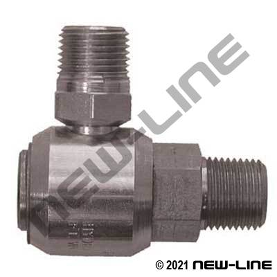 Male NPT Stem X Male NPT 90° Live Swivel