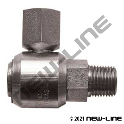 Male NPT Stem X Female NPT 90° Live Swivel