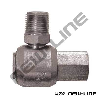 Male NPT Barrel X Female NPT 90° Live Swivel