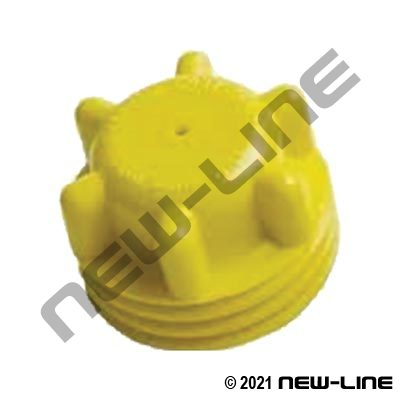 Male Threaded Acme Plug (Yellow Plastic,Brass,Plated Steel)