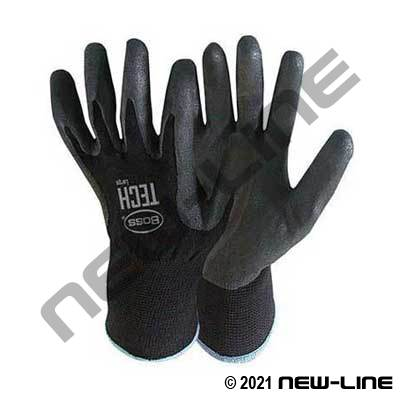 Black Tech Foam Glove with Nitrile Coated Palm