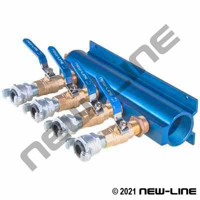 4-Way Manifold Universal Valve Outlet