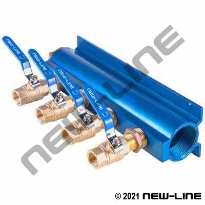 4-Way Manifold Female NPT Valve Outlet