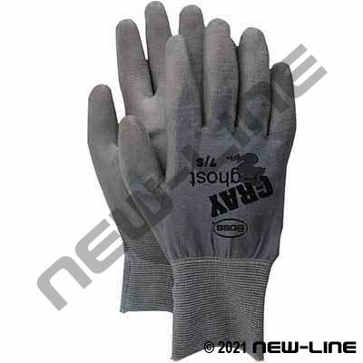 Grey Ghost Glove with Nylon Pu Coated Palm & Fingers