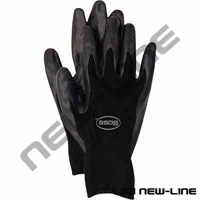 Black Nylon Glove with Nitrile Coated Palm