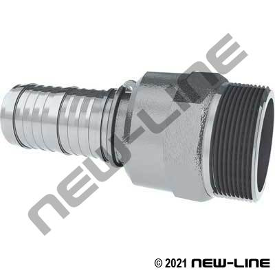 Stainless Swivel Male NPT x Hose Barb