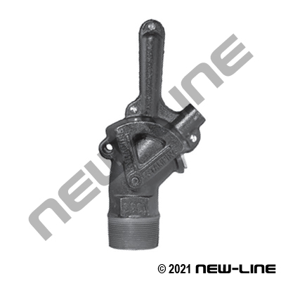 Cast Iron Oil & Molasses Gate Valve - Long Handle