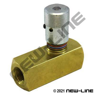 NPT Brass 2000 PSI In-Line Flow Control Valve