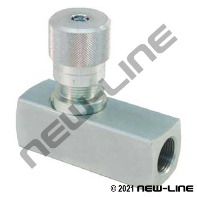 NPT Plated Steel High Pressure Flow Control Valve