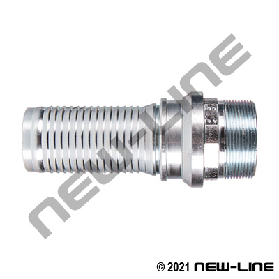Plated Steel Swivel Male NPT (Viton Seal) X Hose Barb