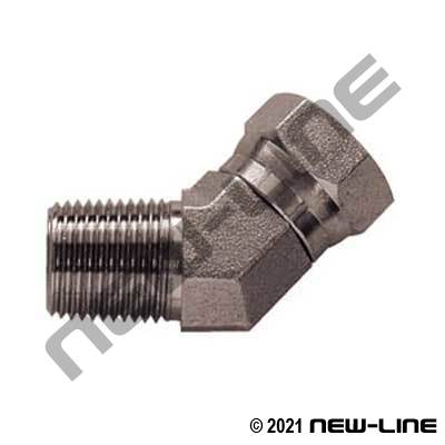 Male NPT X Female NPSM Swivel 45°
