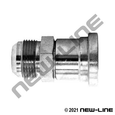 Stainless Steel Male JIC x C61 Flange Straight Adapter