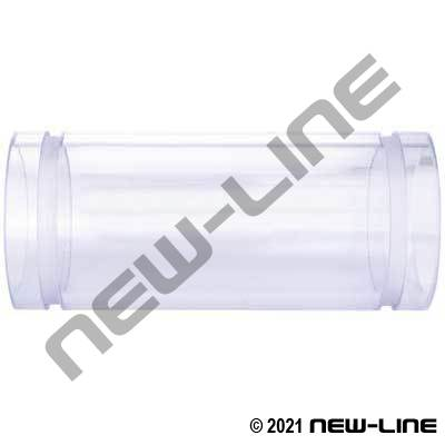 Grooved Clear Polycarbonate Sight Glass