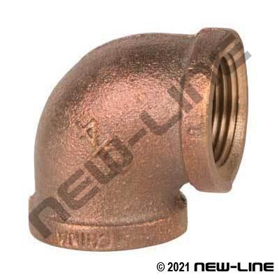 Cast Brass 90° Female Elbow