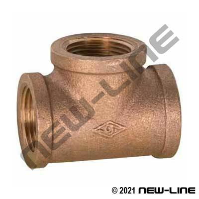 Lead Free LF-101-E Cast Brass Tee