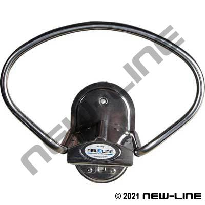 "Stainless Wall Mount Hose/Cable Hanger (Max 100' 1-1/4"")"