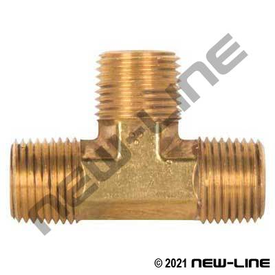 Brass Male NPT Tee