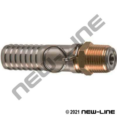 Hose X Male NPT Brass/Stainless Steel Swivel