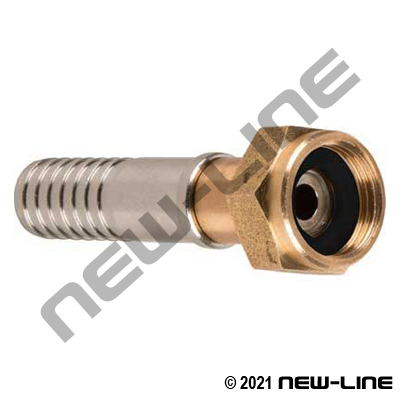 Hose X Female GHT Brass/Stainless Steel Live Swivel