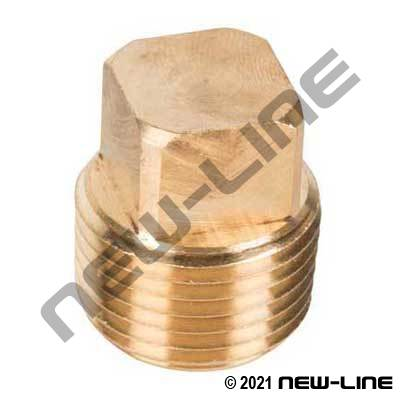 Brass Square Head Plug (Standard/Common)