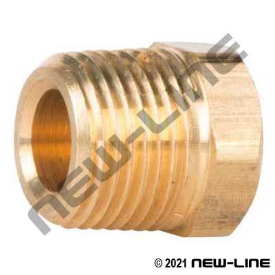 Brass Hex Head Plug (Cored)