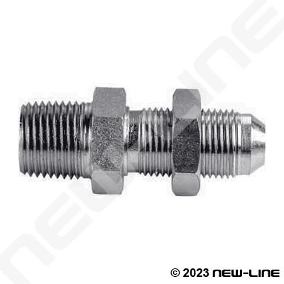 Stainless Steel Mnpt X Male Jic Bulkhead Straight Adapter
