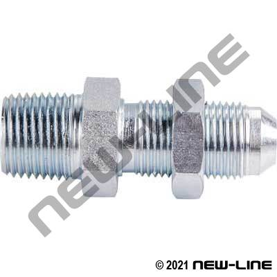 Male NPT X Male JIC Bulkhead Straight Adapter