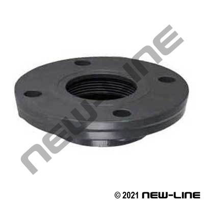 PVC 150# Raised Face Solid ANSI Flange x Female NPT