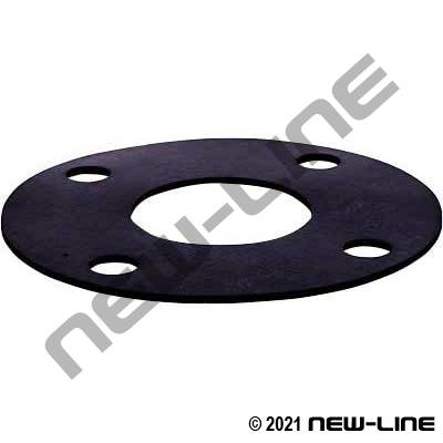 "Buna-N Rubber 150# Full Face Flange Gasket (1/8"" Thick)"