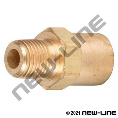 Male NPT x Solid Female Inert-B RH Gas Adapter