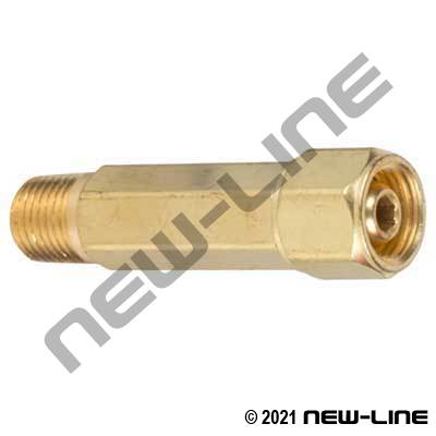 Oxygen B RH Swivel Nut x Male NPT Adapter